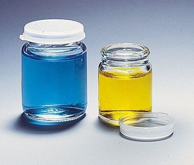 Wheaton 225543 Glass Specimen Vials, Clear with LDPE Snap Caps, 30 mL; 72/Cs