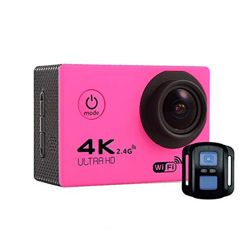 F60R 2.0 Inch 4K 170 Degree Wide Angle WiFi Sport Action Camera Camcorder,Pink