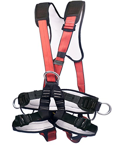 Full Body Climbing Harness Outdoor Safety Harness Climbing Rappelling Equip for Mountaineering Outward Band Expanding Training Caving Rock