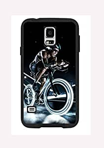 Case Cover Design Cycling Sport Extreme CY03 for Samsung S4 mini Border Rubber Hard Plastic Case Black@pattayamart