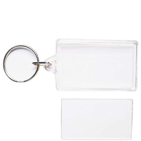 Amazon.com: HeiHy - Llavero rectangular de acrílico en ...