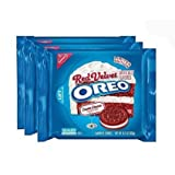 Nabisco, Oreo, Limited Edition, Red Velvet Sandwich Cookies with Cream Cheese Flavored Creme, 10.7oz Bag (Pack of 3) by Oreo
