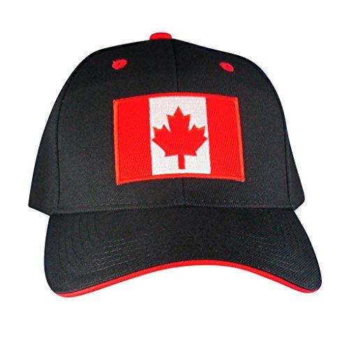 AffinityAddOns Canadian Maple Leaf Flag Hat – Embroidered Patch Baseball - Maple Leaf Eyelet