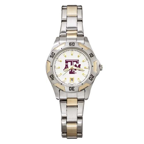 NCAA Texas A&M Aggies Women's All-Pro Two-Tone Watch