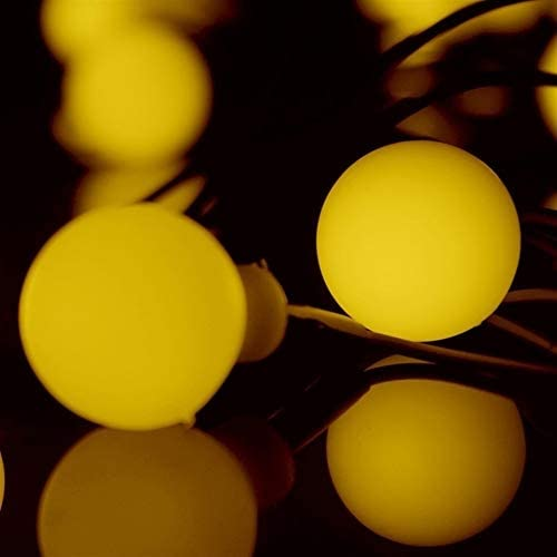 REWD 10pcs/lot 10m 100 Cherry Ball Waterproof LED String lights Christmas wedding garden new year Indoor Outdoor Holiday light Garden Solar Ornaments (Emitting Color : Blue)
