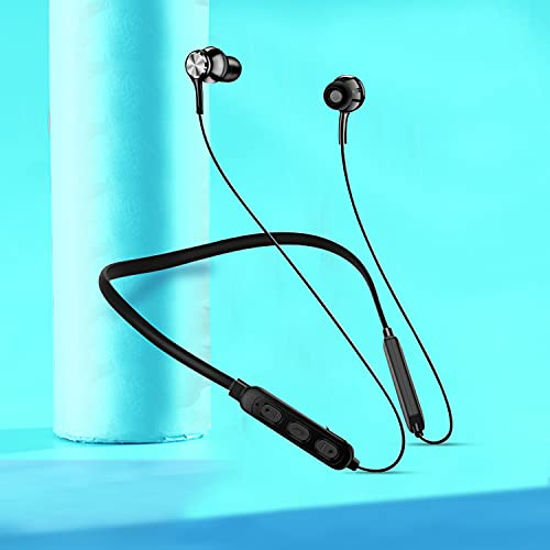 Wireless Bluetooth Earphones for Laptop,Smartphone Sports Bluetooth Wireless Earphone Magnetic with high Bass and Neckband Hands-Free Calling inbuilt Mic with Long Life and Flexible Headset