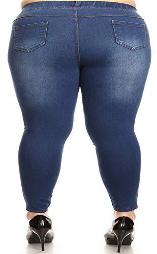 Azul medio Mujer Para Foucome Vaqueros ItSnwYxp