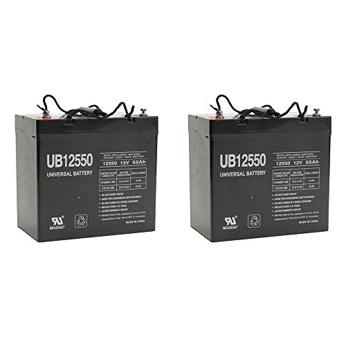 UB12550 12V 55AH Internal Thread Battery for Solo Products SPEED - 2 Pack by Universal Power Group