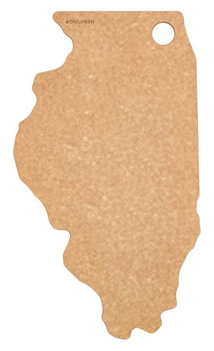 Illinois State Tree (Epicurean State of Illinois Cutting and Serving Board, 15 by 9
