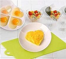 MHOYI Microondas Huevo Poacher, Microondas Poachable Popavia Maker, Microondas Huevo Cocineras, Microondas BPA Free Best Steamer Easy Cooker ...