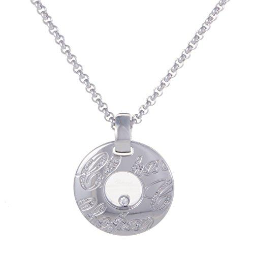 Chopard Chopardissimo 18K White Gold 1 Floating Diamond Pendant Necklace