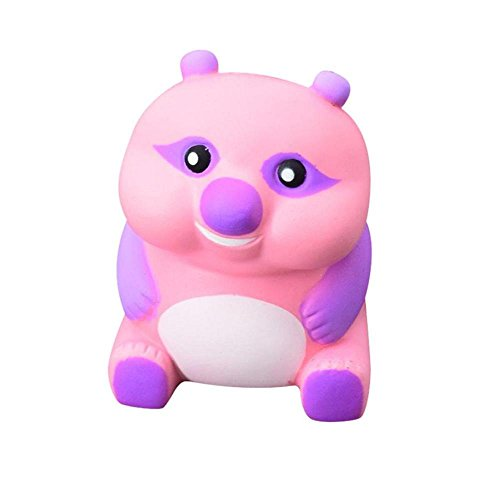 Price comparison product image FTXJ Funny Cute Jumbo Pig/Bear Scented Slow Rising Toy Stress Relief Toy (Pink Bear)