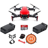 DJI MAVIC Air Flame Red - Bundle With 32 GB Micro HDSC Card, Spare Intelligent Flight Battery, FS64 Mavic Air Accessories Bundle Set, Protective Fast-fold Drone Landing Pad