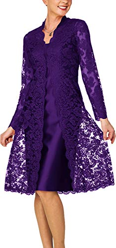 Mother of The Bride Dresses Short Evening Party Dresses Lace Jacket Regency ()
