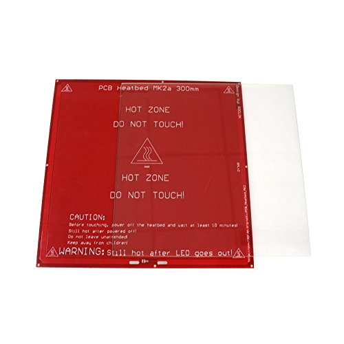 3maker PCB Heated Bed MK2a 300mmx 300mm with Tempered Borosilicate Glass Plate for Reprap or Mendel (Pcb Plate)