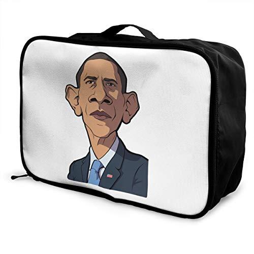 Barack Obama Lightweight Large Capacity Portable Luggage Bag Fashion Travel Duffel Bag