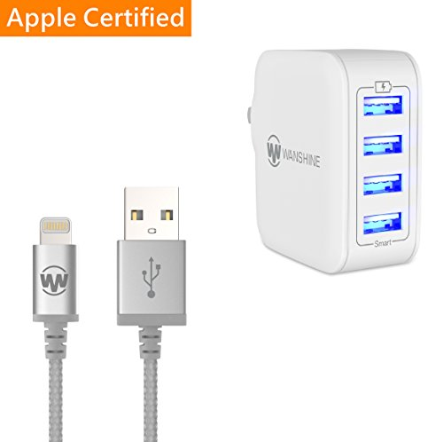 Apple 10W Charger with Lightning Cable for iPhone 5/5c/5s/iPad Air - 2