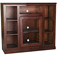 Eagle Coastal Tall Bookcase Entertainment Console, 45 Wide, Concord Cherry Finish