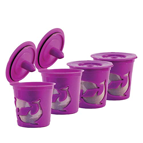 (FROZ-CUP 2.0-4 Refillable/Reusable K Cups for Keurig 2.0 - K200, K300, K400, K500 Series and all 1.0 Brewers (4-Pack))