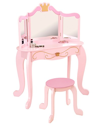 KidKraft Princess Table & Stool (Discontinued by manufacturer) (Vanity Table Diva)