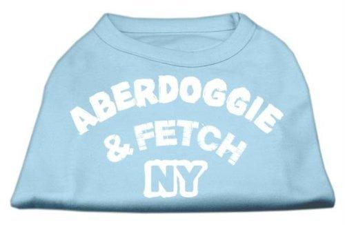 Baby bluee Mirage Pet Products 12-Inch Aberdoggie NY Screenprint Shirts, Medium, Baby bluee