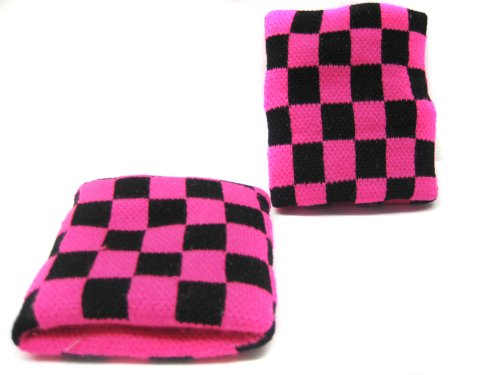 Pink Checkered Wristband ()