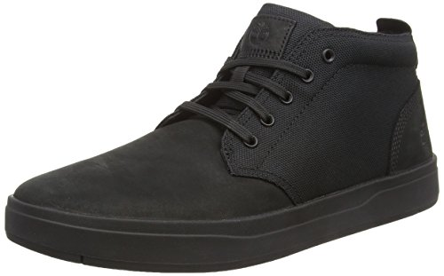 - Timberland Men's Davis Square Leather and Fabric Chukka Black Nubuck/Black 9.5 D US