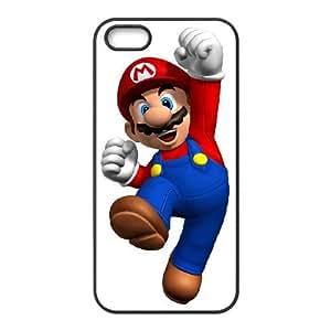 iPhone 4 4s Phone Case Covers Black Super Mario Bros 1 DSVEWLHTV8495 Plastic Customized Phone Case Cover