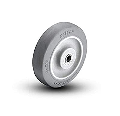 "Colson Gray TPE Performa Soft Rubber Wheel 3"" x 7/8"" with Delrin Bearing 1-3-441 by Hi-Tech / Encore"