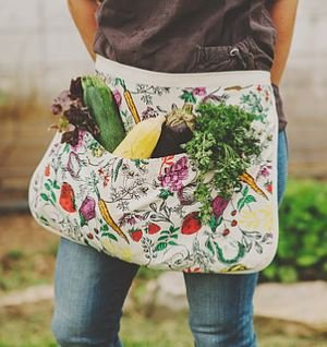 The Harvest Apron by Fluffy Layers Gardening Apron, Gathering Apron, Apron for Gardening (Harvest Gift)