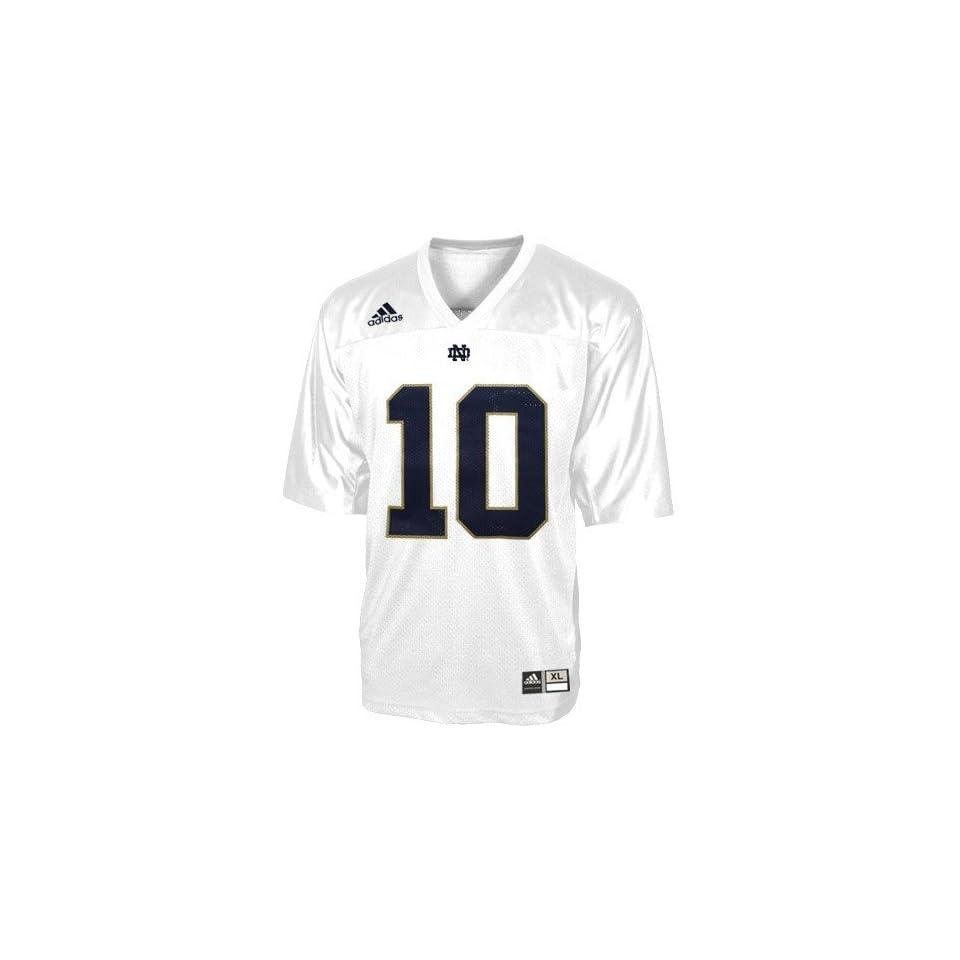 adidas Notre Dame Fighting Irish #10 White Toddler Replica Football Jersey