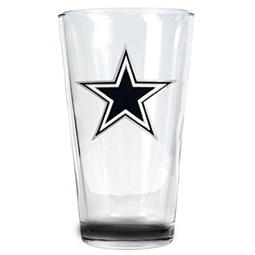 New Orleans Beer Mug - Officially Licensed NFL 16oz Pint Glass (Primary Logo) Beer Glass (DALLAS COWBOYS)