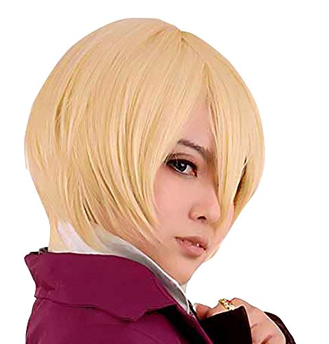 Alois Trancy Costume (TOKYO-T Black Butler Cosplay Alois Trancy Costume with Mesh Cap (Wig , Gold))
