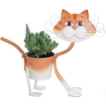Amazon Com Cat Planter Pot Holder Garden Amp Outdoor