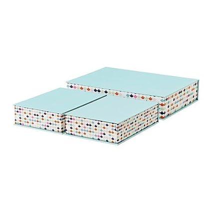 Ikea hejsan archivador en color azul claro; 3 unidades)