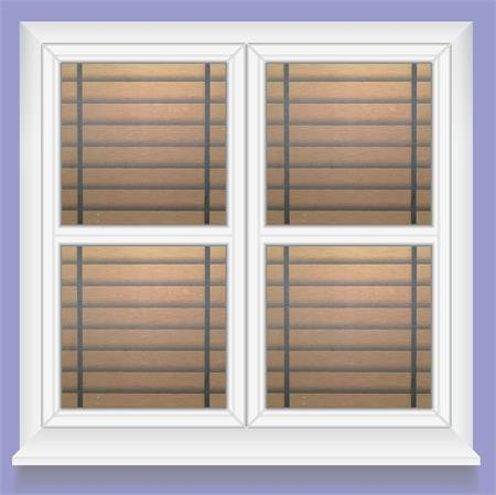 Wood Blinds, Decorative, Privacy, Static Cling Window Film (35'' x 7ft) by Window Film and More (Image #1)