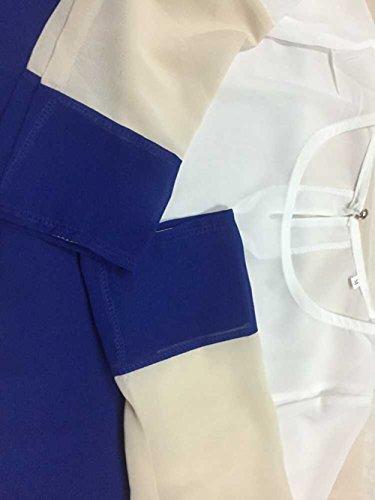 Minetom Contrasto Diritto Casuale abito Mini Vestito Nero in Colore Partito Slim Donne gnxHr4gfqa