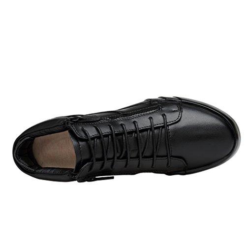 Zapatillas Altas Para Hombre Sun Lorence, Altas, De Invierno, Elevador De Altura, AuHombresto De La Altura, Agregar Lana Dentro De Los Zapatos De Cuero
