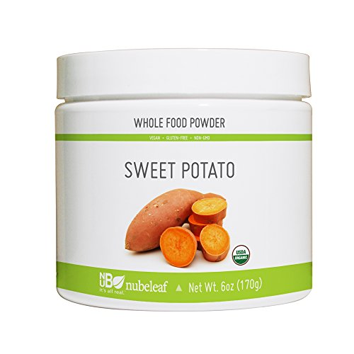 Nubeleaf Sweet Potato Powder - Non-GMO, Gluten-Free, Raw, Vegan Source of Fiber, Essential Vitamins% Minerals - Single-Ingredient Nutrient Rich Superfood for Cooking, Baking, Smoothies