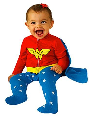 Faerynicethings Wonder Woman Romper Infant Costume - 0-6 Months -