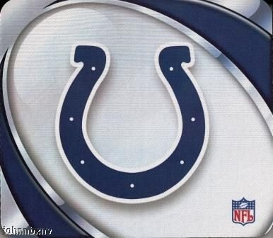 - Indianapolis Colts Mouse Pad - Vortex Design
