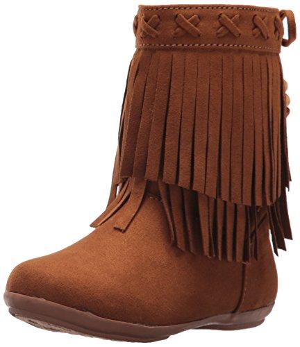 Rampage Girls' Rak Lil Bunnie Pull-on Boot, Cognac, 8 M US Toddler