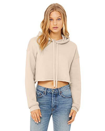 Bella + Canvas - Women's Cropped Fleece Hoodie - 7502 - M - Heather Dust