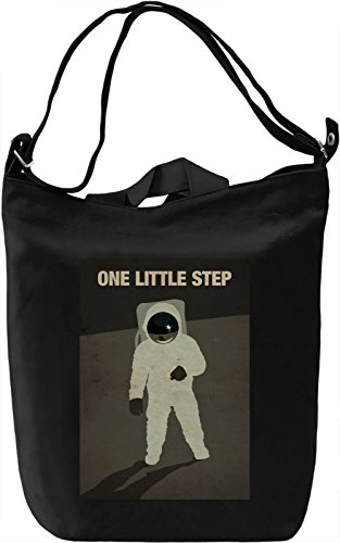 One little step Borsa Giornaliera Canvas Canvas Day Bag| 100% Premium Cotton Canvas| DTG Printing|