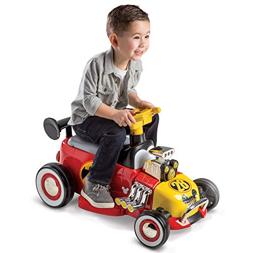 Mickey Boys' Battery-Powered Ride-On Quad, Red, 6V (Mickey Mouse Battery Powered Ride On Toy)