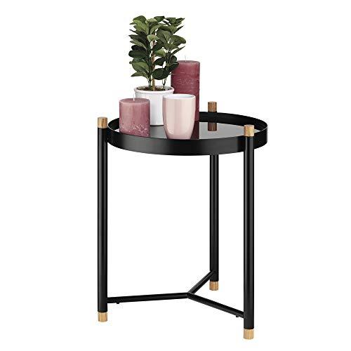 Kela Oak Coffee Table, Metal, Black, 40x 40x 52.5cm by Kela (Image #4)