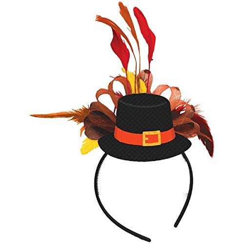 Turkey Headbands - amscan Thanksgiving Pilgrim Fashion Headband |