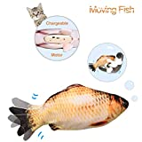Leven Moving Fish Cat Toy, Electric Cat Kicker Toy, Realistic Flopping Fish Simulation, Wiggle Fish...