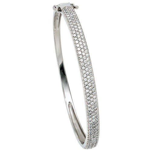 Les bracelets bracelet bracelet en argent 925 et zircone blanc pour femme