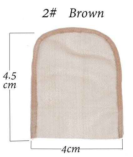 4 By 4 Inch Lace Net Basement Foundation for Making Lace Top Closure Wig Accessories DIY (Light Brown)